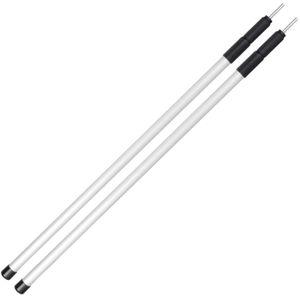 noorsk® 2 Zeltstangen | Verstellbare Aufstellstangen aus Aluminium - 100-240 cm