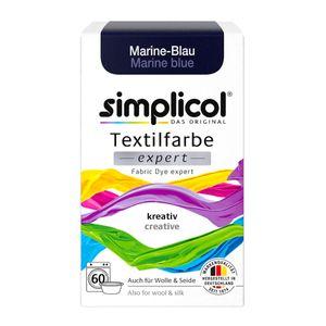 Simplicol Textilfarbe expert zum kreativen Färben Marine Blau