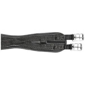 HKM PVC Soft-Sattelgurt Waffeloptik -Elastik-, Farbe:9100 schwarz, Größe:60