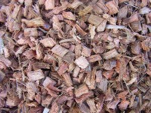 Mulch Chips aus 100 % Kokos, grob, 100 Liter