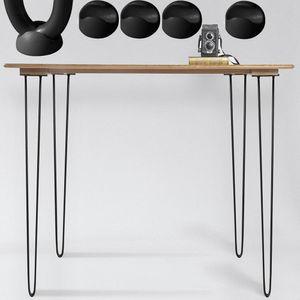 Hairpin Legs 710mm Schwarz Stahl 4er Set Tischbeine Tischgestell Haarnadelbeine