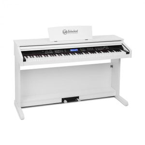 Schubert Subi 88 MK II tragbares Keyboard - Tasten-Keyboard , Digital-Piano , 88 Tasten , MIDI , USB , 360 Klänge , 160 Rhythmen , 80 Demosongs , LCD-Display , Effekte , Aufnahmefunktion , weiß