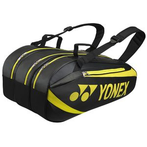 Yonex Active Series BAG8929EX Tennistasche 9R Schwarz Lime