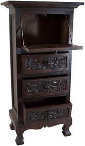 Sekretär Holz Schreibtisch Drachen Antik Design China Möbel Asien Neu 100 Cm '8