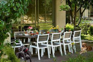 KETER HARMONY Gartentisch / Esstisch ausziehbar 162 x 100 x 74 cm, Cappuccino