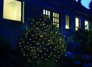 FHS International LED Lichternetz 4x1m 160 LEDs Kabel grün Außen IP44 5m Zuleitung