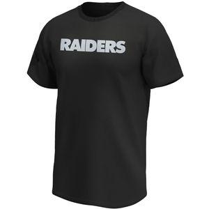 Las Vegas Raiders NFL T-Shirt Iconic Wordmark schwarz