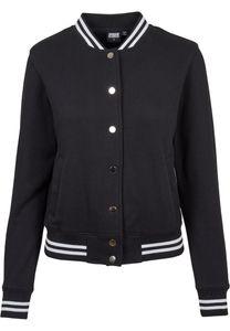 Urban Classics Damen Jacke Ladies College Sweat Jacket Black-XXL