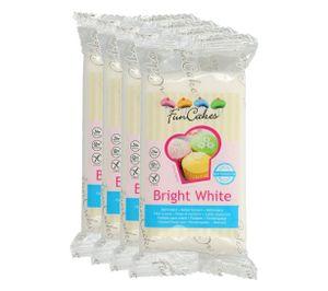 FunCakes Fondant Bright White Vanille 4 x 250g