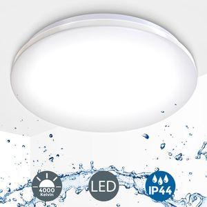 LED Badezimmer Decken-Leuchte IP44 inkl. 18W 1600 Lumen LED-Platine 4.000 Kelvin neutralweiß Deckenlampe B.K.Licht