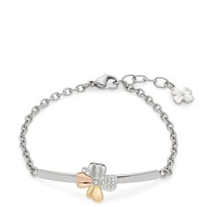Leonardo Jewels Armband Fiore, Armreif, Arm Band, Schmuck, Edelstahl IP gold rosegold,, Zirkonia, Mehrfarbig, 017958