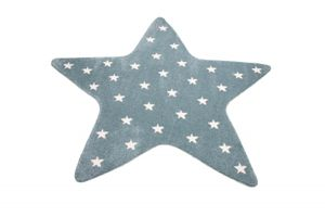 Kinderzimmer Teppich Stern Spielteppich in Türkis Größe - 120 cm Rund