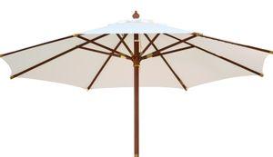 Sonnenschirm|Kai Wiechmann|Sunshine ø 240 cm |Weiß | UV-Schutz  50+ | kippbar | mit Windauslass