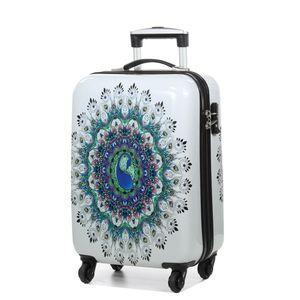 Koffer Mandala Hartschalen Travel Handgepäck Weiss 55 cm Bowatex