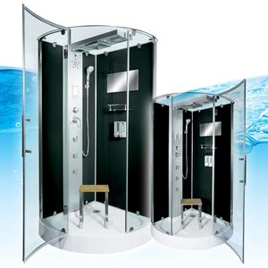 AcquaVapore DTP6037-1302 Dusche Dampfdusche Duschtempel Duschkabine 90x90 OHNE 2K Scheiben Versiegelung