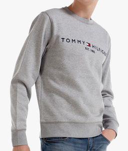 Tommy Hilfiger Herren Gestapeltes Flaggen-Sweatshirt Pullover Grau L