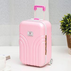 Koffer-Spieluhr für Mädchen, mit Spieluhr, Schmuckkästchen, mit drehbarem tanzendem Mädchen, niedliches rosa Koffer-Modell, Mini-Spieluhr, Schmuckkästchen, Bastelgeschenk, Kinderspielzeug