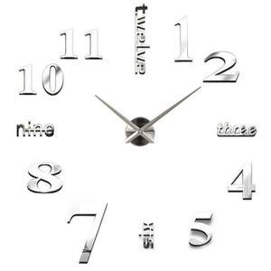 3D Acryl Rahmenlose DIY Wanduhr Moderne Clock Wanduhr Wandtattoo Aufkleber Deko