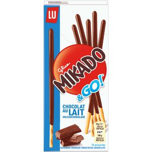 Mikado Go Milchschokolade knuspriger Keks mit Milchschokolade 39g