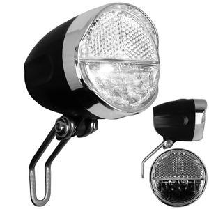 Fahrrad Frontleuchte mit Batterien Frontlicht mit StVZO-Zulassung Fahrradlicht vorne Fahrradbeleuchtung Vorderlicht