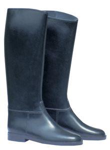 PVC Reitstiefel, schwarz, Größe:42