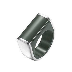 Joop Damen Ring Edelstahl Silber Schwarz Pieces JPRG00028A, Ringgröße:56 (17.8 mm Ø)