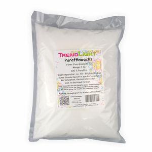 TrendLight - Paraffin Paraffinwachs rein weiss zum Kerzen herstellen 1 kg Pastillen Markenqualität