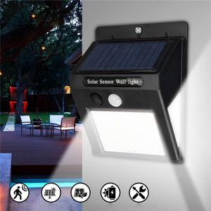 LED Solar Solarenergie Lampen mit PIR Bewegungsmelder Garten Hof Wandleuchte Sicherheit Außenwandleuchte