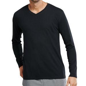 """Schiesser Mix & Relax Schlafanzug Shirt langarm Aus der Schiesser-Serie """"Mix+Relax"""", Atmungsaktiv und besonders komfortabel, Mit V-Ausschnitt"""