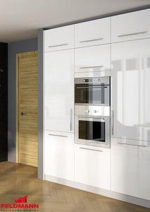 Küchenblock Hochschränke 180cm grau / weiß Hochglanz Neu