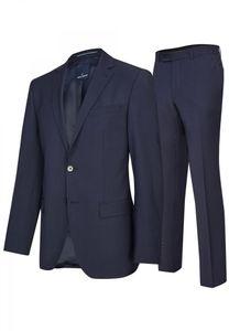 Daniel Hechter - Modern Fit - Herren Baukasten Anzug in Blau oder Schwarz  (7932), Größe:31, Farbe:Dunkelblau (60)