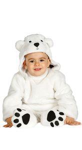 Baby Eisbär Polarbär Kostüm für Kinder , Größe:86/92