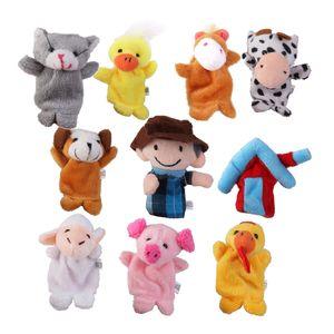 10 Stück Baby Fingerpuppen Tiere Bauernhof Handpuppen Plüschtier Puppen Spielzeug