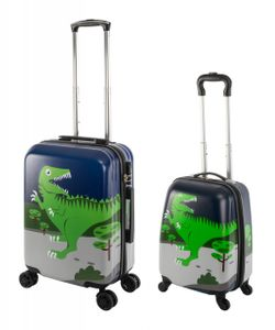 Travelhouse - Happy Children - Green Dino - Kinderkoffer Kindertrolley 27L+ 41L