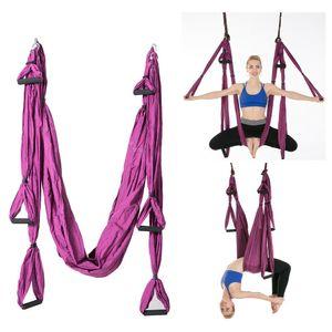 Yoga Hängematte Aerial Schaukel Air Fliege Anti Schwerkraft Yoga Requisiten, Lila