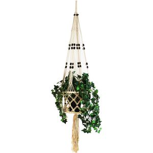 HOME STYLING COLLECTION Hängeampel MAKRAMEE Blumentopf Pflanzenhalter aus Garn