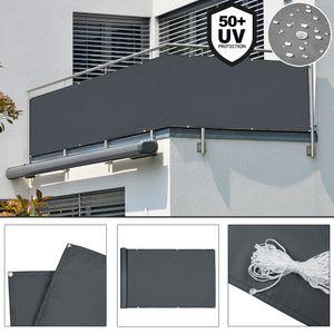 Sichtschutz Balkon Terrasse Windschutz Markise Balkonsichtschutz Schutzzaun, Nachbildung:Anthrazit