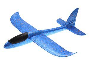 großes XXL Segelflugzeug Segelflieger aus Styropor/EPP 49*48*12,5cm Flugzeug Flieger Outdoor-Sport Wurf-Spielzeug (blau)