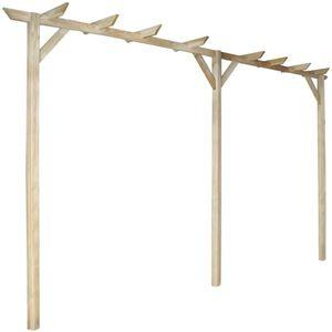 Hochwertigen Gartenpergola Rosenbogen Rankhilfe Rankgitter Rankkasten Holzbogen 400x40x205 cm Holz
