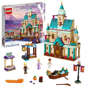 LEGO 41167 Disney Princess Frozen Die Eiskönigin 2 Schloss Arendelle, Bauset mit Anna, Elsa und Kristoff Minipuppen, Schloss, Marktständen, Ruderboot sowie Tierfiguren, Spielset für Kinder ab 5 Jahren