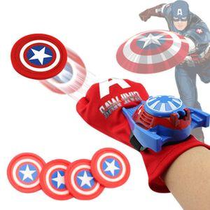 Baby Spiderman Toys Superheld Batman Hulk Launcher Handschuhe Cosplay Spielzeug Figur : Captain America