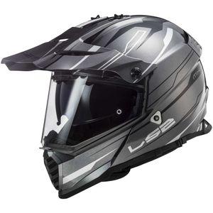 LS2 Pioneer Evo MX436 Knight Enduro-Helm :  titanium-weiß  L (59/60)