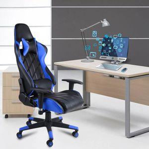 Gaming Stuhl mit Fußstütze, 150 kg, Bürostuhl, Schreibtischstuhl, ergonomisch Bürostuhl