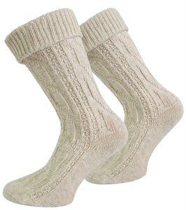 Trachten-Socken mit Leinen - Naturmelange - 39-42