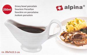 Sauciere aus Porzellan, Design zeitlos-schlicht, Volumen 250 ml, Farbe Weiß