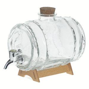 Getränkespender mit Zapfhahn MARC, mit Ständer, 1,5 L, Glas