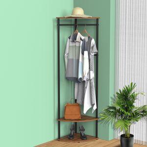 Cheflaud Garderobenständer Standgarderob Kleiderständer 4 Haken Platz sparen, kann in Ecken, Büros, Fluren, Garderoben platziert werden