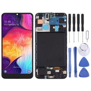 Für Samsung Galaxy A50 A505F Display Full TFT LCD mit Rahmen Einheit Touch Ersatzteil Reparatur Schwarz