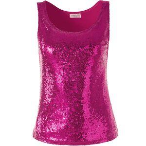dressforfun Pailletten-Träger-Top - pink, XXL