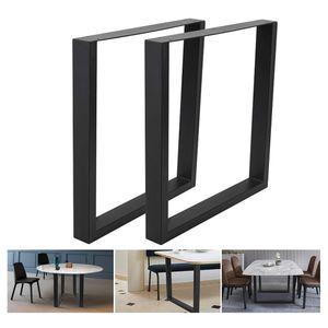 WYCTIN 2er Tischbeine Tischgestell Tischkufen Stahl  60*72cm Industriedesign Schwarz